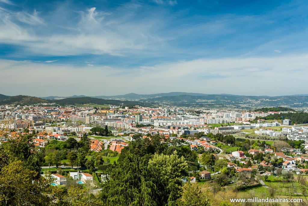 Vistas de Braga y alrededores durante la subida al santuario