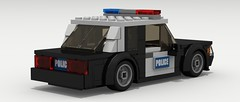 Ford Mustang Police (rear view)