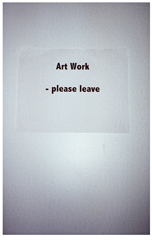 Art Work - please leave.