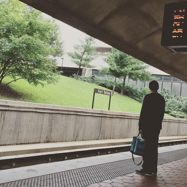 Waiting for Godot, I mean, Metro #wmata #igdc #sullen_streets #metro