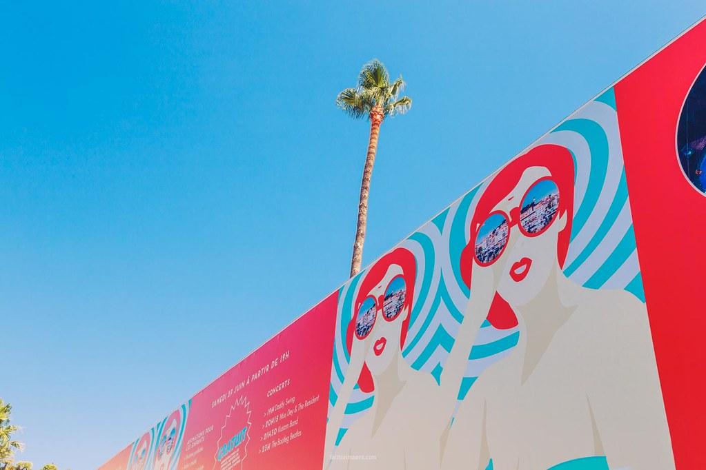 Cool billboard and palm tree