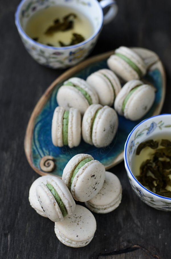 Fragrant Jasmine Green Tea Macarons