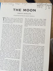 Mum's moon landing annotations in her atlas
