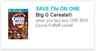 photo regarding Puffs Coupons Printable called Trix and Cocoa Puffs as small as 0.63 with Fresh Coupon codes!
