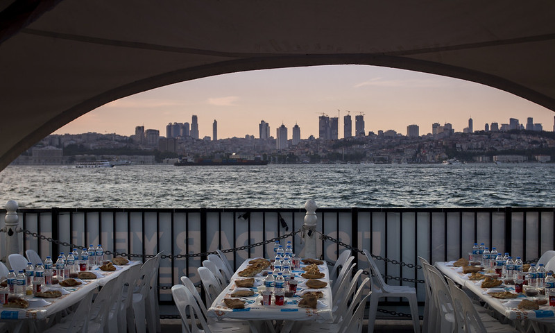 Evening dinner in Istanbul
