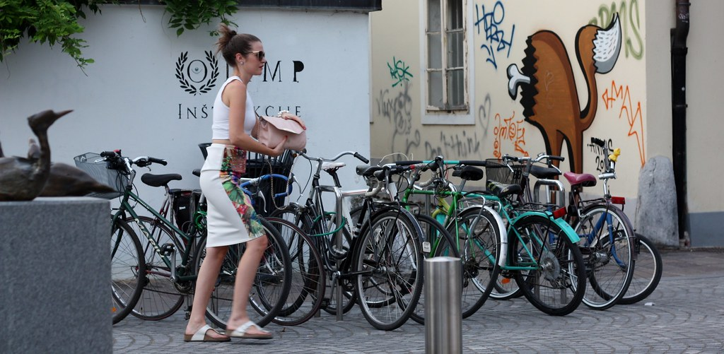 People Woman and bikes