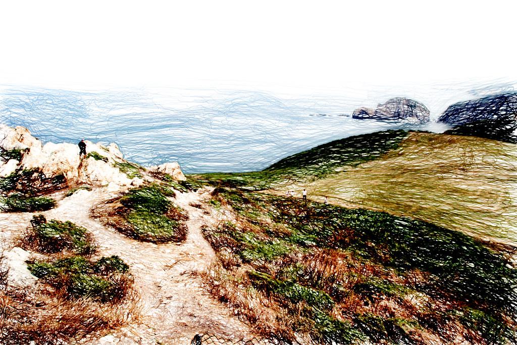 y en el mar, rocas