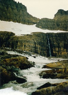 Meltwater stream flowing out of Grinnell Glacier, Glacier NP MT