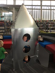 Lachlan and pals play in a rocket