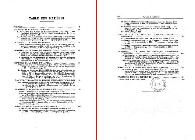 1931 - La carte de l'Empire colonial français (3) - Table des Matières
