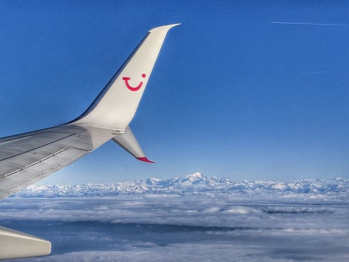 Mont Blanc above clouds