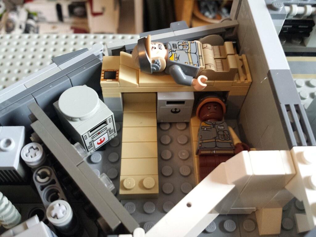 Lego Millennium Falcon interior crew quarters