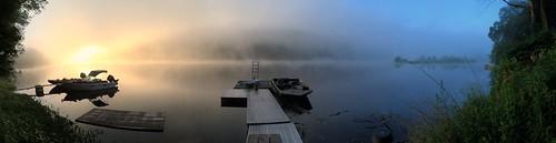sky water contrast sunrise river scenery outdoor pennsylvania gap poconos delaware trippy