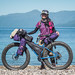 Kumiko and her awesome XS sized Surly Pugsley with self-made custom bike packs (Lake Shikotsu, Hokkaido, Japan) by Robert Thomson