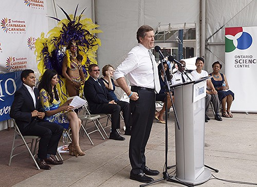 Tory goes informal (for him) at the Carnival Launch