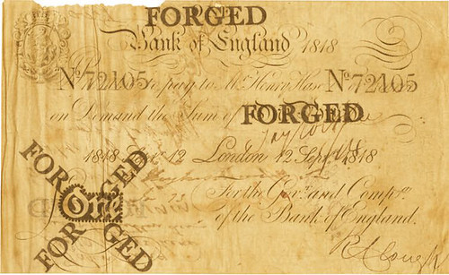 Cruikshank Forged Bank of England note