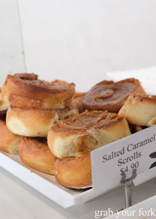 Salted caramel scrolls at Oregano Bakery, South Hurstville