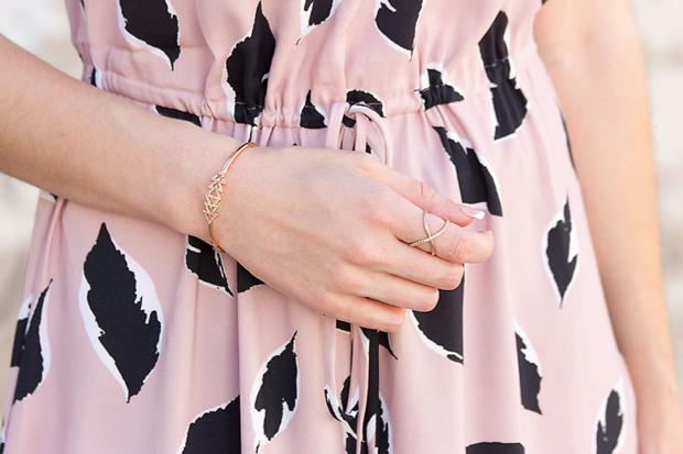 Loft Midi Dress, Rocksbox, Rose Gold Ring