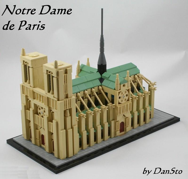 Moc Notre Dame De Paris Architecture Special Lego Themes
