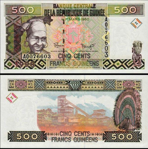 500 Frankov Guinea 1998, Pick 36