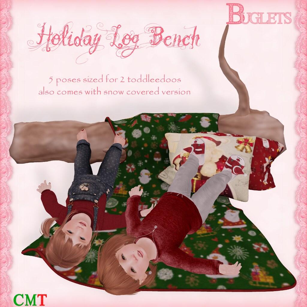 Holiday Log Bench AD - SecondLifeHub.com