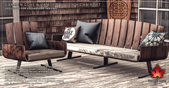 Trompe Loeil - Camden Cove and Camden Couch & Chair for Collabor88 January