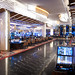 The view into the slots and gaming area near the entrance of the new MGM Grand- National Harbor, Resort and Casino