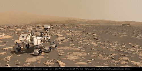Curiosity on the Road to Hematite Ridge - Sol 1516