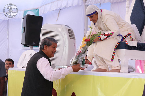 Welcome by Chief Minister Uttarakhand, Harish Rawat