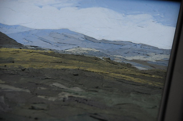 Snowdonia, Welsh Mountains - Original Landscape Painting by Steve Greaves (detail).