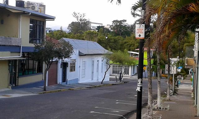 Calle 7 hacie el norte, con la sede de la galería Teorética av.9-11, c.7/ 7th street towards the north, with the Teorética gallery seat 9th-11th av., 7th st.