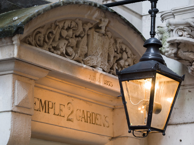 Gas lamp in the Middle Temple