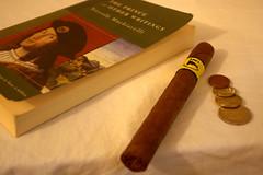 brown, cigar,