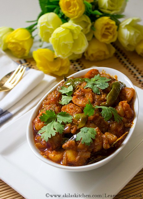prawn curry in andhra style