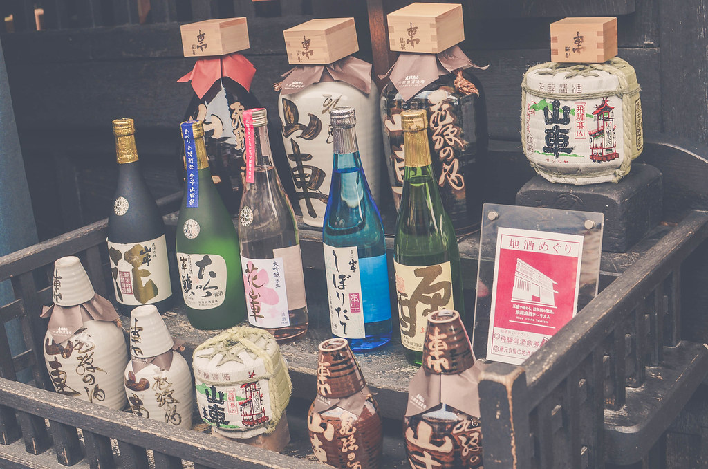 Varieties of Sake in Takayama