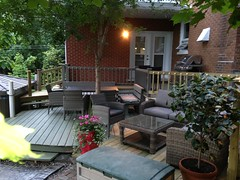 Nouveau look du patio  au Champayeur.