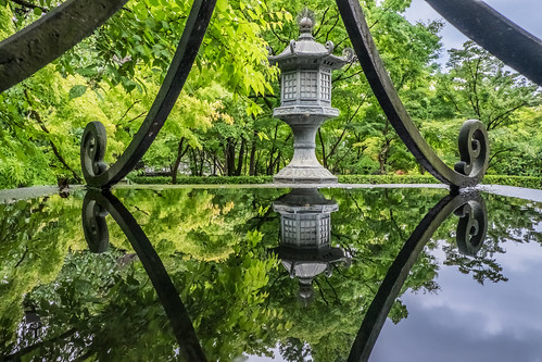 travel reflection japan kyoto tour greens 京都 日本 fujifilm 1855mm stonelamp 灯籠 倒影 永観堂 石灯籠 永觀堂 御影堂 xt1 禅林寺 elkandotemple
