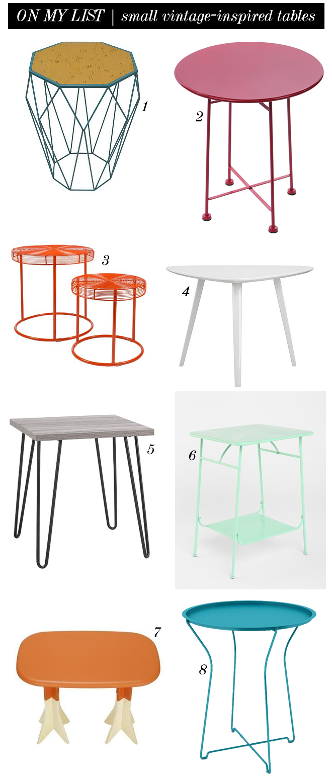 on my list small vintage-inspired tables