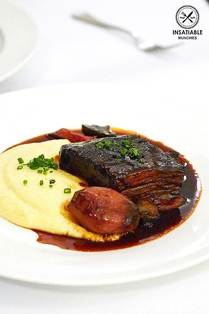 Sydney Food Blog Review of Hayes St Wharf Bistro, Neutral Bay: Sticky Wagyu Brisket Bourginon, Caramelised Shallot and Truffled Mash, $30