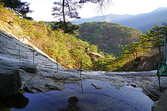 Water pool with exciting mountain view, Myohyangsan