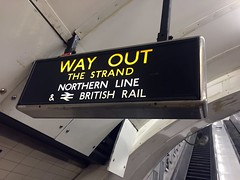 Way out sign at Charing Cross Jubilee line escalators
