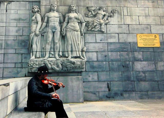 Violin man #Brussels #Belgium