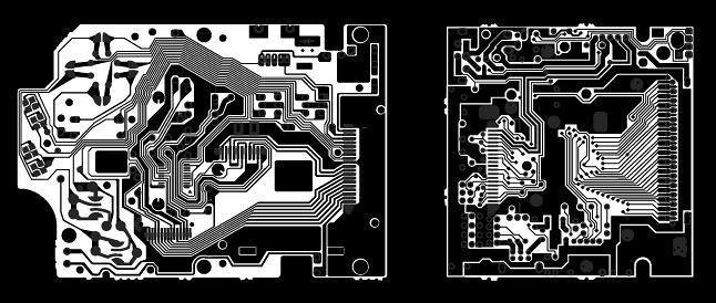 Nintendo Gameboy circuit portrait composition