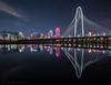 Margaret Hunt Hill Bridge (Leukemia & Lymphoma Society RED) by JosephHaubert