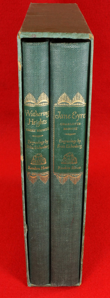 RD14487 Jane Eyre - Wuthering Heights by Charlotte & Emily Bronte 1943 Random House DSC08133