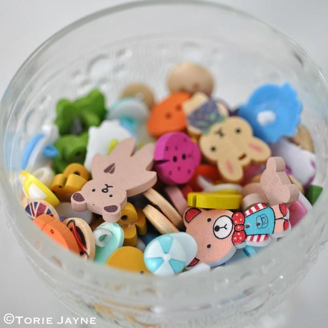 Assortment of cute buttons at Sooz