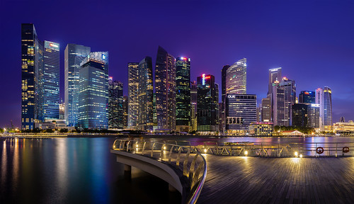 Singapore cityscape blue hour