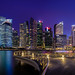 Singapore cityscape blue hour by .Randy.