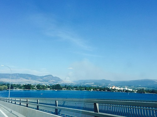 Forest fire close to Kelown