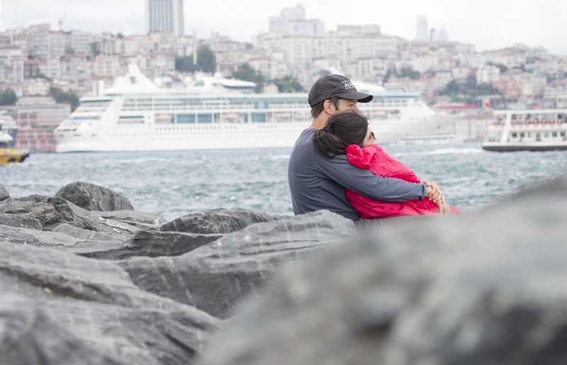 Couple of lovers in Sarayburnu, Istanbul